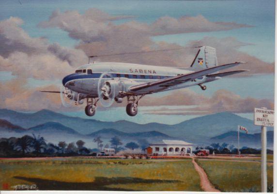 Divers 006 avion de la Sabena